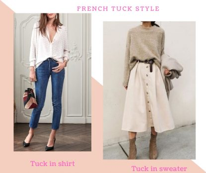French tuck style