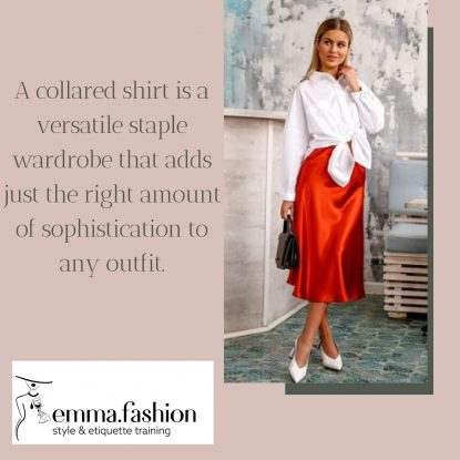 Styling tips on how to wear a collared shirt in the summer
