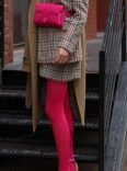 Bold colored tights