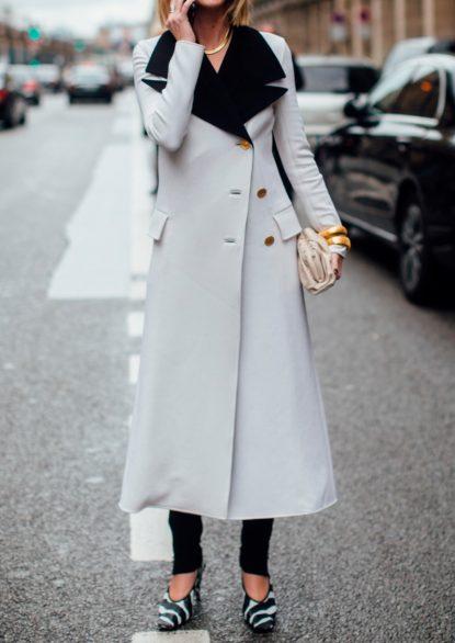 Tuxedo duster coat
