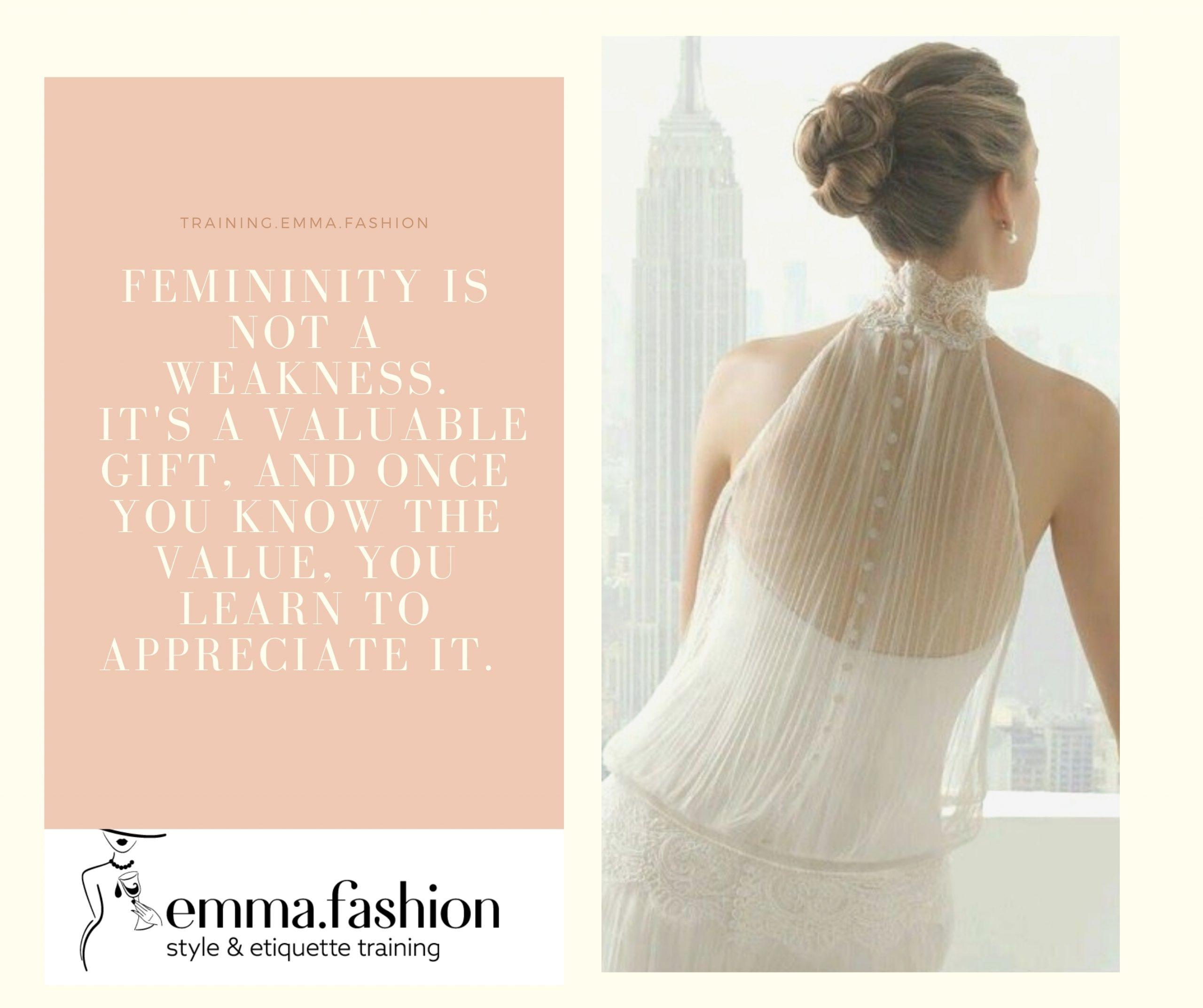 Feminine and graceful appearance