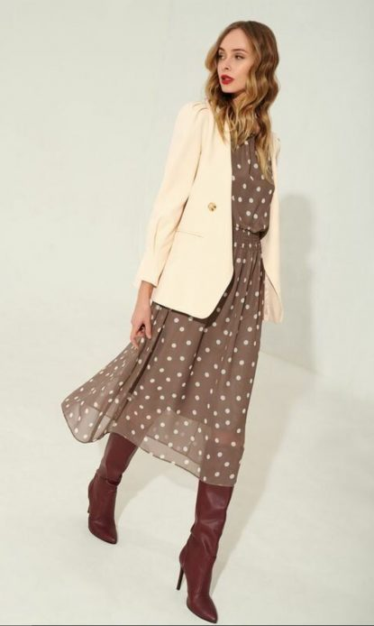 Colored polka dots dress