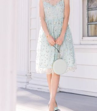 Pastel color dress