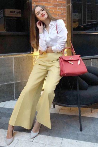 Wide -leg pants