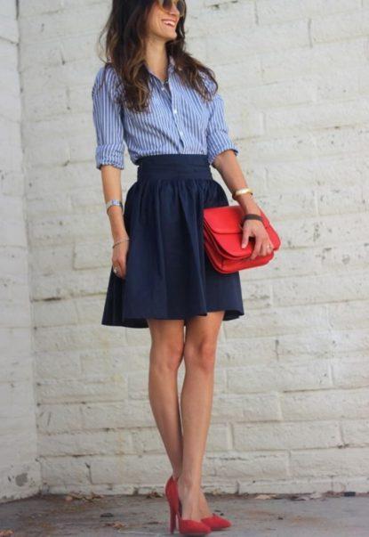 Mini skirt fabric