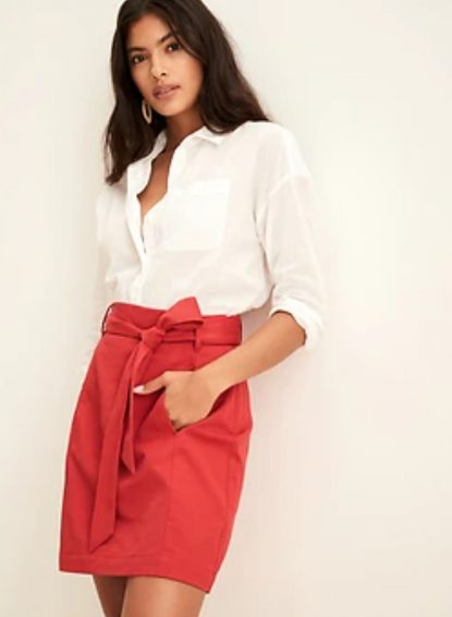 Mini skirt fitting