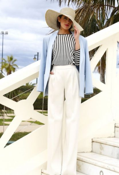 White pants chic look