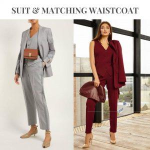matching waistcoat