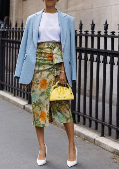 Skirt and t-shirt combo