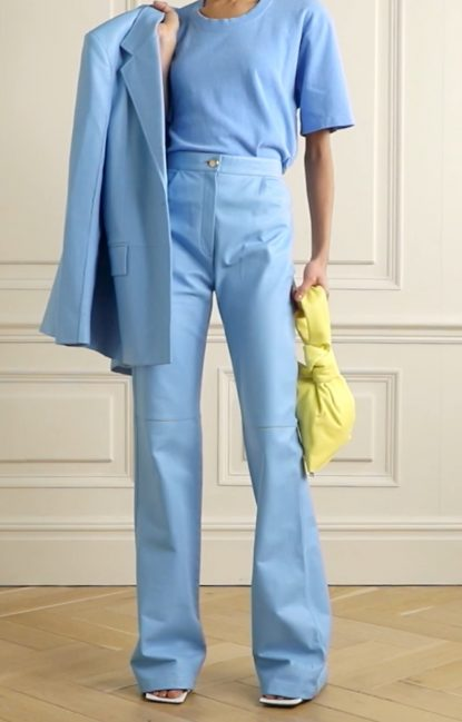layer a t-shirt with a suit