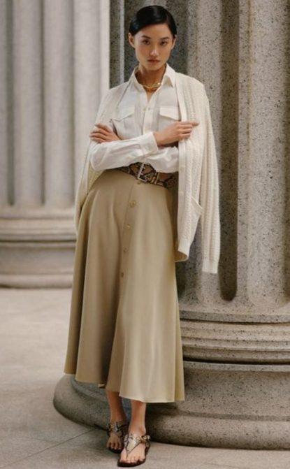 Skirt and cardigan combo