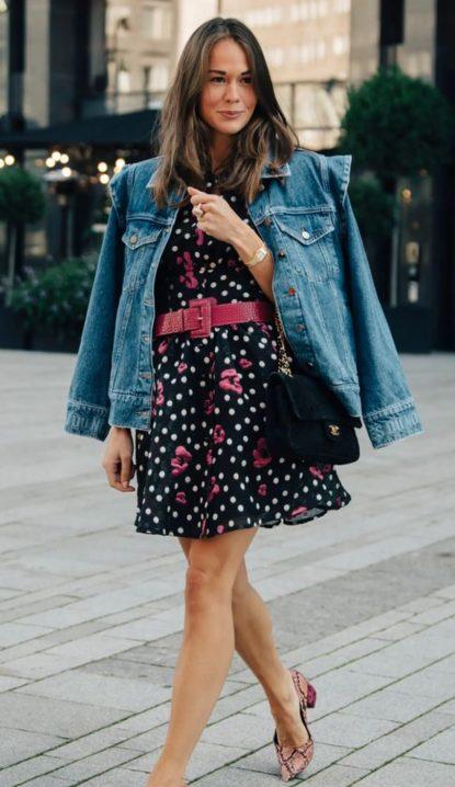 Summer dress and denim jacket