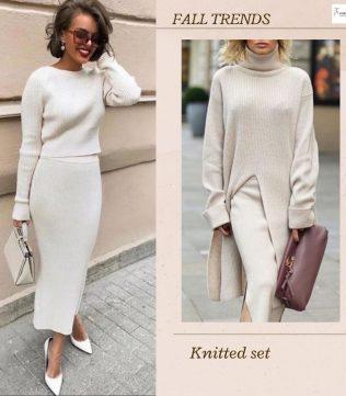 Two-piece knit set