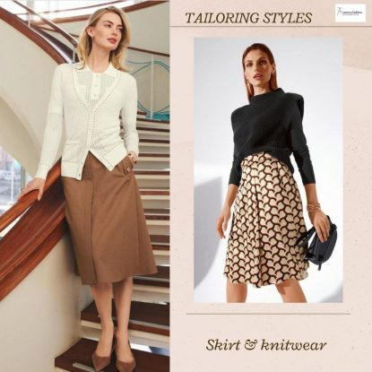 Skirts and knitwear combo