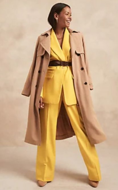 Trench coat and suit