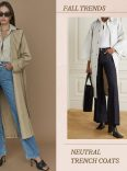 neutral trench coat