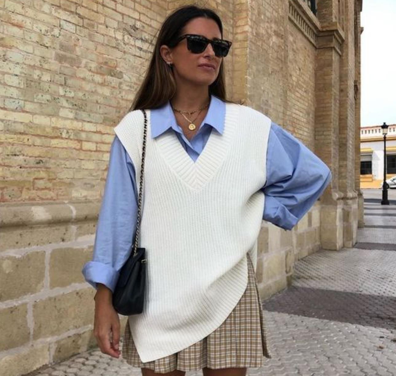 Knitted vest & shirt