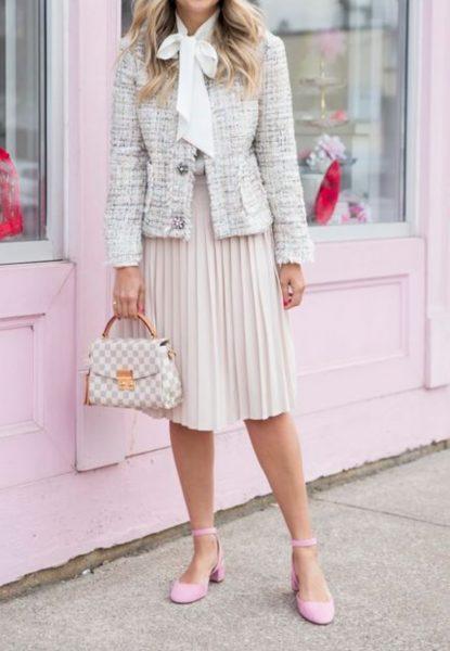 Tweed jacket preppy style